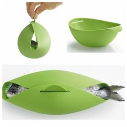 Wholesale Steamer Cook - Silicone Fish Cooking Bowls Steam Baking Food Bowl Basket Kitchen Cooking Tools Fish Kettle Steamer Roaster Cook Tool KKA3090