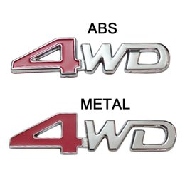 Wholesale Toyota Stickers Badges Emblems - 10Pcs Lot 4WD Emblems Badge Sticker for JEEP TOYOTA NISSAN FORD OFF ROAD ABS or METAL
