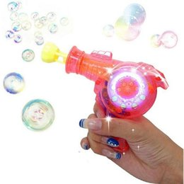 Wholesale Hammer Lights - Automatic Flashing Bubble Gun Dolphin Model Electric Rainbow Light Colorful Soap Bubbles Best Kid Outdoor Toy