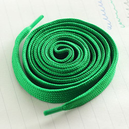 Wholesale Wholesale Shoe Lace Charms - 7 color shoelaces Canvas laces Sports Shoelace Board Shoelace Shoe Accessories Flat thickening of pure cotton lace 1.1 meters free shipping