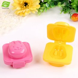 Wholesale Cookies Bunny - 2pcs Lot Lovely Bunny Shape Sushi Rice Mold Plastic Cake Mold Cookie Cutter Double Sides Toast Mold Sandwich Cutter