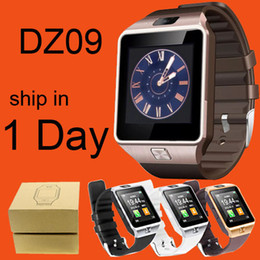 Wholesale Gps Bluetooth Phone Call - DZ09 Bluetooth Smart Watch With SIM Card For Apple Samsung IOS Android Cell phone 1.56 inch DHL Free OTH110