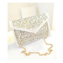 Wholesale Beige Envelope Clutch - Wholesale- 2016 new spring handbags hollow envelope clutch chain shoulder bag diagonal package