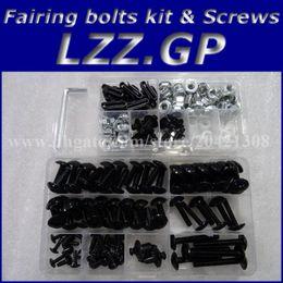 Wholesale Honda Cbr919 Fairing - Fairing bolts kit screws for HONDA CBR900 919 1998 1999 CBR900RR 1998 1999 CBR919 Fairing screw bolts Black silver