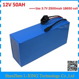 Wholesale lithium charger 12v - High quality 12V 50AH battery 12 V 50AH 50000MAH Lithium ion battery for 12V 3S Li ion Battery with 5A charger EU US no tax