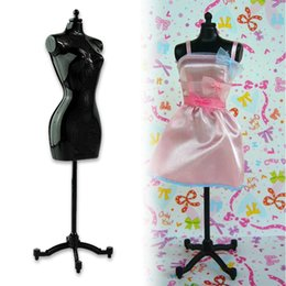Wholesale Cheap Mannequin Dolls - Cheap+ New 1pc Clothes Gown Display Mannequin Model Stand for Barbie Doll Holder Dress Form ESA380