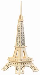 Argentina Envío gratis ------ En 2016 nuevos productos de la Torre Eiffel juguetes de bloques de construcción para niños de madera Suministro