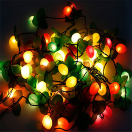 Wholesale Fluorescent Strip Lights - Wholesale- 3.6M 28 LEDs Fruit Strip Light Fairy String Bar Decoration For New Year Day Christmas Holiday Garden Wedding Party Light Garland