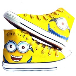 Wholesale Despicable Minion New - New Arrival Anime Despicable Me Minion Hand Painted Canvas Shoes,Outdoor Leisure Fashion Sneakers,Unisex Casual Shoes Hot Items6
