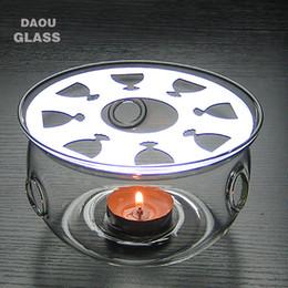 Wholesale Heat Resisting - Heat-Resisting Glass Round Shape Teapot Coffee Water Tea Pot Warmer Base Teapot Heater