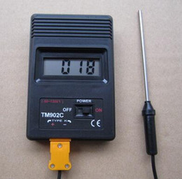 Wholesale Weather Station Temperature Sensor - TM902C NEW Digital LCD thermometer electronic temperature weather station indoor and outdoor tester -50C to 1300C