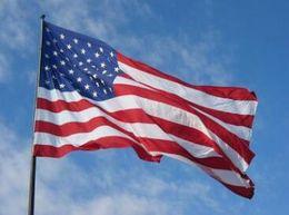 Wholesale Usa Flag Stripes - 90cmx150cm Polyester USA American Flag US United States Stars Stripes Home Decoration Souvenir G130