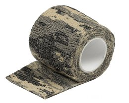 Wholesale Stretch Elastic Roll - Military Tactical 1 Roll Camo Stretch Bandage Adhesive Elastic Camping Hunting Multifunctional Camouflage Tape 4.5M Travel Kits