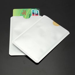 Wholesale Breast Protectors - Wholesale- 10 Pcs RFID Secure Sleeves Credit Card Holder Blocking Protector Case Shield