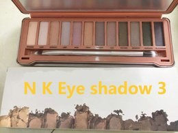 Wholesale Matte Color Eyeshadow Palette - New N K E D Makeup Eyeshadow nude palette 12 color Eyeshadow Palette N K ED eye shadow pallet Palette NO 1 2 3 5 Eye Shadow DHL free shiping
