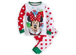 Wholesale Under Clothing Children - 2016 Hot cartoon printing mickey Minnie cotton suit jacket long sleeve T-shirt + pants two-piece baby clothes in children