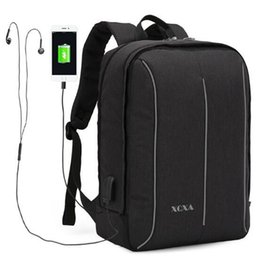 Wholesale detachable headphones - 15.6 inch Multifunction Detachable USB Charging Headphone Port Men Business Travel Laptop Backpack Student School Rucksack Outdoor Bag Pack