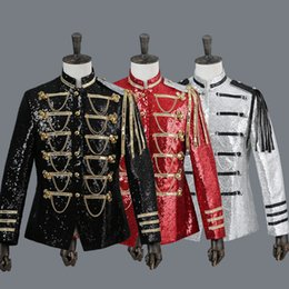 Wholesale Royal Guard - Europe and the United Royal army song guard of honor conductor costumes States palace costume opera stage show classical music suit jacket