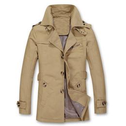 Wholesale Mens Cool Winter Jackets - mens autumn Winter men casual jackets bomber plus size 5XL male Khaki button black jacket Cheap Business coat ArmyGreen epaulet cool blue