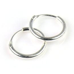 Wholesale Cartilage Earrings Endless Hoop - 925 Sterling Silver Teeny Endless Hoop Earrings for cartilage, Fake septum, Nose and lips, 5 16 inch Diameter=8mm,,PT-697