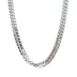 Wholesale Stainless Steel Neck Chains - Men's Thick Chain Necklace Fashion Silver Stainless Steel Link Snake Cuban Curb Chain Necklace For Men Neck Jewelry