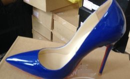 Wholesale Sexy High Heels Chains - 2018 Red bottom Pumps Patent leather Pigalle Heels WOMEN Wedding shoes Pointed toe fine heels Sexy Woman Red sole High heels 35-42