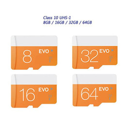 Wholesale Micr Sd 32gb - 2017 New Hot!! Class 10 EVO 128GB 64GB 32GB 16GB 8GB Micr SD Card MicroSD TF Memory Card C10 Flash SDHC SD Adapter Retail Package