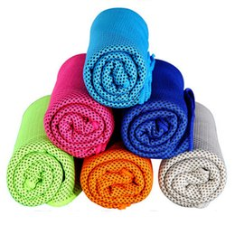 Wholesale Baby Hooded Bath Towels - Cool towel 100x30cmSummer cooling towels dual layer sports outdoor ice cold scaft scarves Pad quick dry washcloth necessity for Fitness Yoga