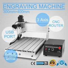 Wholesale Router Engraver Engraving - Free shipping USB CNC ROUTER ENGRAVER ENGRAVING CUTTING 3 AXIS 3040T Engraving Drilling and Milling Machine 3Axis Carving cutting tool