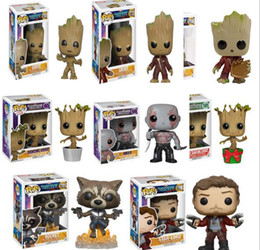 Wholesale Pop People - 2018 Funko pop Movies Guardians of the Galaxy Action Figures Tree People Dolls with Original Box Good Quality Toys for Kids