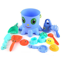 Wholesale Sand Beach Toy Set - 14pcs High Quality Kids Children Sand Beach Bucket Toy Set Classic Toys Bathroom Fun Toys Hawaii Baby Playing Water Toys