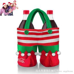 Оптовые украшения эльфа онлайн-Оптовая Рождественский эльф дух конфеты сумки рождественские украшения мешок милый ребенок подарок Рождественская сумка Бесплатная доставка