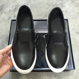 Wholesale Thick Soled Sneakers For Women - Hot sale high quality free shipping men women sneakers,zanottys black leather thick soles metal chain for casual shoes
