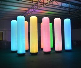 Wholesale Fly Advertising - Inflatable LED Pillar Glow in the Dark Air Dancer LED Tube Fly Guy Puppet Combo Set with Blower for Advertising Event LLFA