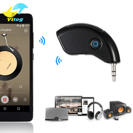 Wholesale Wholesale Home Audio Receivers - Car Hands-Free Music Play Phone Call Bluetooth Audio Receiver Wireless 3.5mm Stereo Output for Home Sound System