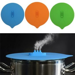 Wholesale Silicone Accessories For Kitchen - Originality Steam Ship Steaming Lid Silicone Steam Lid Kitchen Tools Covers for Pots Cups kitchen Accessories IA733