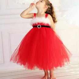 INS Kızlar Elbiseler kırmızı Elbise Tül Dantel TUTU Kayma Elbise noel Parantez etek Kızın Elbiseleri supplier laces braces nereden dantel parantezi tedarikçiler