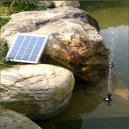 Wholesale Solar Power 12v Water Pumps - 12V 5W Solar Power Mini Fountain Pump Garden Landscape Pool Pund Tank Pump DC Brushless Water Pump Submersible Watering display