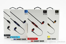 Wholesale Headphone Big - BS-UBS Big Daddy Bass Sport Bluetooth Wireless 4.1 In Ear Earphone headphones Headsets With Hard Package 1pcs Freeshipping