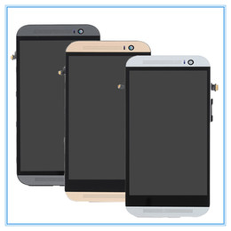 Wholesale One Touch Retail - Dual SIM For HTC One M8 LCD Display + Touch Digitizer Screen + Frame Original Assembly full LCD Display Screen Touch Digitizer Retail
