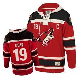 Wholesale Hockey Sawyer - Mens Arizona Coyotes #19 Shane Doan Hoodie Old Time Authentic Red Sawyer Hockey Hoodies Stitched Sweatshirts