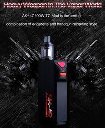 Wholesale cool modes - Authentic Kamry AK-47 200W TC Mod Kit cool AK47 MOD VT VW Mode Delicate casting fit 510 thread RDA RBA Tank Electronic Cigarettes
