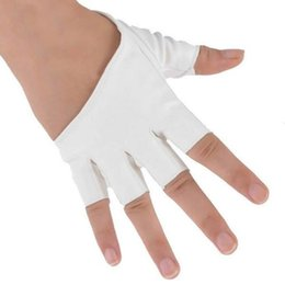 Wholesale Pink Leather Half Gloves - Fashion men and women gloves PU imitation cortex Half palm finger gloves Stage Show Christmas Halloween Clothing Accessories