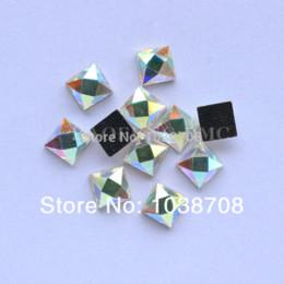 2014 neue quadratische hot-fix geformt 6 * 6mm 130pcs / lot crystalab strasssteine hot fix dmc strassstein auf eisen für kleidungsstück m63066 von Fabrikanten