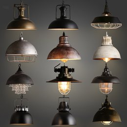 Wholesale Hotel Housing - Hot sell Indoor decorative modern pendant lamp E27 Iron lamp dining room bar counter coffee house decorate commercial lighting freeshipping