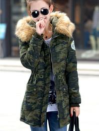 Wholesale Down Long Coat Fur - 2016 women winter coat wadded jacket medium-long plus size 4XL Parka fur collar thickening hood abrigos female snow wear