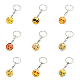 Wholesale Glass Art Sale - Top sale Face smiley face gemstone key chain metal glass pendant key chain R131 Arts and Crafts mix order