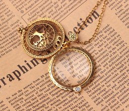 Wholesale Vintage Magnifier - Vintage Magnet Magnifier Lockets Hollow Tree of Life Flower Pendant Long Necklace For Women Totem Religion Maxi Jewelry Mother Gift