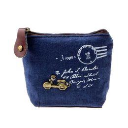 Wholesale Retro Vintage Print Handbags - Wholesale-2015 New Fashion Women Lady Girl Retro Coin Bag Purse Wallet Card Case Handbag Gift Vintage Printed Purse Wholesale Freeshipping