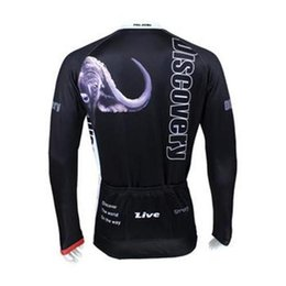 Wholesale Discovery Cycling Suit - discovery men cycling Jersey suits in winter autumn fall with long sleeve bike top & (bib) pants in cycling clothing, bicycle wear